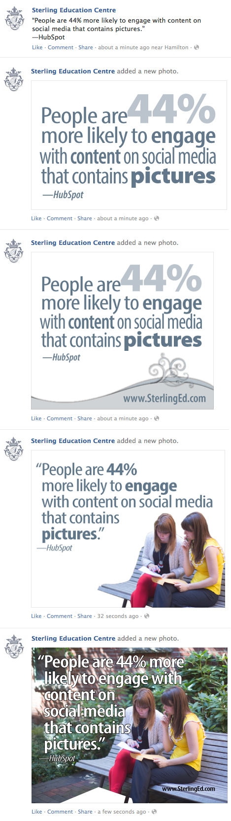 Do photos make a difference in social media?
