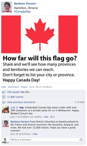 Canada Day Facebook Post