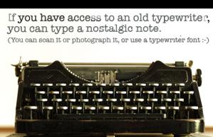 Typewritten Note