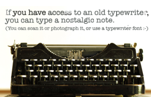 Typewritten Note