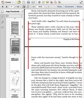 wider margin in print book not desirable in pdf version books
